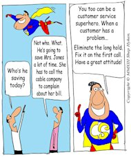 Respect your Customers' Time: Resolve Customer Service Complaints Quickly image CS Superhero Saves Time Low Res