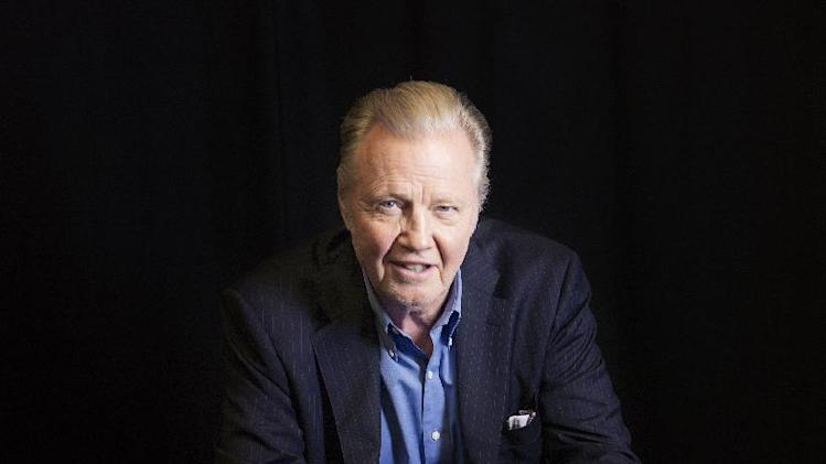 "Jon Voight, an actor in the upcoming film, ""The Getaway,"" poses for a portrait, on Wednesday, Aug. 28, 2013 in New York. (Photo by Victoria Will/Invision/AP)"