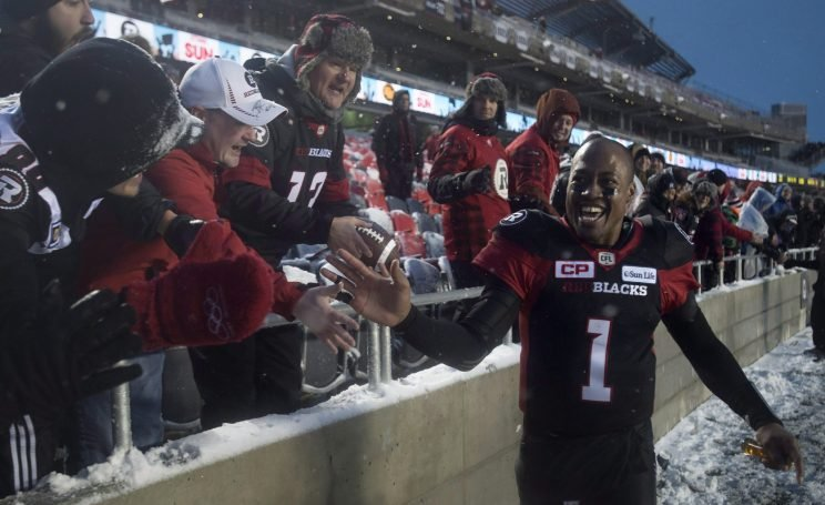 Ottawa QB Henry Burris heads back to the Grey Cup with plenty of motivation. (THE CANADIAN PRESS/Adrian Wyld photo)