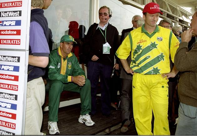 Hansie Cronje and Steve Waugh