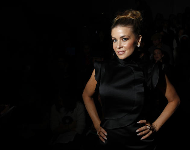 Actress Electra attends the Vivienne Tam Autumn/Winter 2013 collection during New York Fashion Week