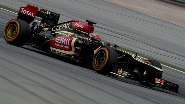 Formula 1 - Lotus put Raikkonen one step ahead of Grosjean