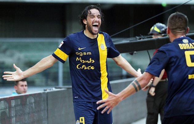 Hellas Verona's forward Luca Toni