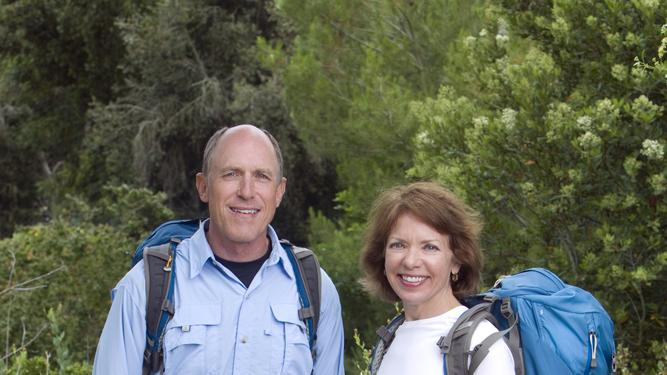 "Childhood Sweethearts Bill (left) and Cathi Alden compete in ""The Amazing Race 19."""