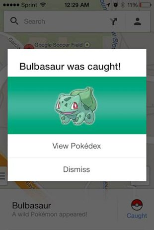 Google April Fools Prank 2014: Introducing AdBirds and Pokémon Master image Google Maps Bulbasaur