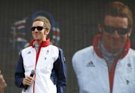 Britain's gold medal cyclist Bradley Wiggins appears at the BT London Live concert in Hyde Park on August 4. Wiggins has confirmed he is competing in the Tour of Britain starting September 9