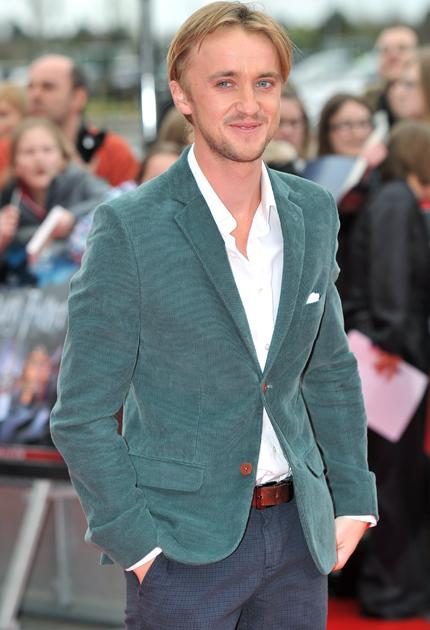 Harry Potter premiere: Tom Felton stole a few more hearts as he smiled for the cameras.