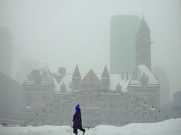 @tonoariki: Whiteout | Toronto City Hall