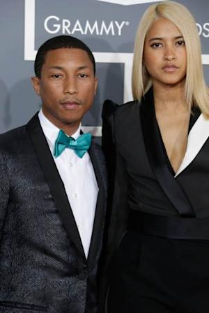 Pharrell and Helen Lasichanh -- Getty Images