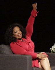 "Oprah Winfrey attends ""A Conversation with David Letterman and Oprah Winfrey"" in Indiana on November 26, 2012. She said that a special show with Lance Armstrong would address ""years of accusations of cheating, and charges of lying about the use of performance-enhancing drugs"" throughout Armstrong's career"