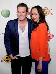 Mark McGrath and Carin Kingsland attend the fifth anniversary celebration of 'The Beatles LOVE by Cirque du Soleil' show at the Mirage Hotel & Casino June 8, 2011 in Las Vegas -- Getty Images