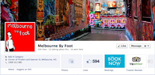 How Tour and Activity Operators Should Use Facebook for Business image melbourne by foot facebook resized 600