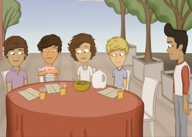 one direction cartoon