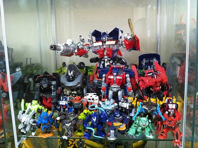 """A collection of some of hardcore fan Marcus Goh's autobot figurines from """"Transformers: Revenge of the Fallen"""". (Photo courtesy of Marcus Goh)"""