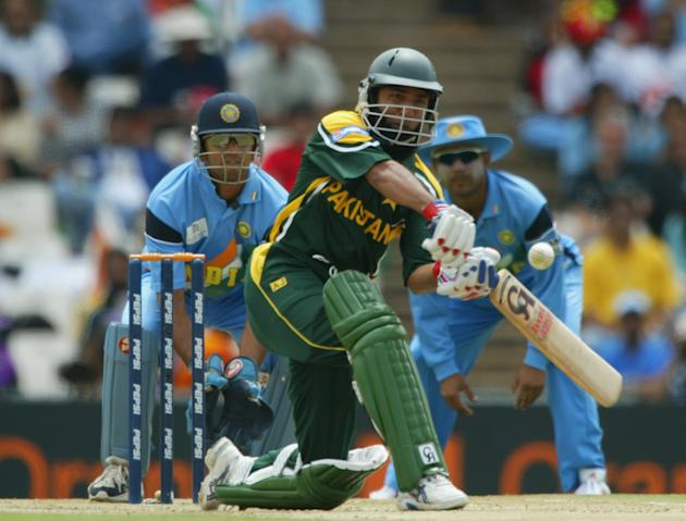 Saeed Anwar of Pakistan smashes a boundary on his way to a century
