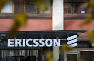 Ericsson logo is seen at the firm's headquarters in Stockholm, on November 7, 2012. South Korea's Samsung Electronics said on Wednesday it had filed a complaint to seek a US import ban on some Ericsson products in an escalating patent battle with the Swedish mobile giant.