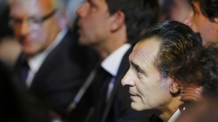 Prandelli attends the draw for the 2014 World Cup n Sao Joao da Mata