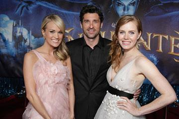 Carrie Underwood , Patrick Dempsey and Amy Adams at the Los Angeles premiere of Walt Disney Pictures' Enchanted