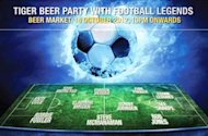 Party with Premier League football legends and Tiger Beer!