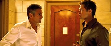 George Clooney and Brad Pitt in Warner Bros. Pictures' Ocean's Thirteen