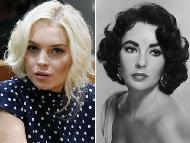 Lindsay Lohan / Elizabeth Taylor  -- Getty Images