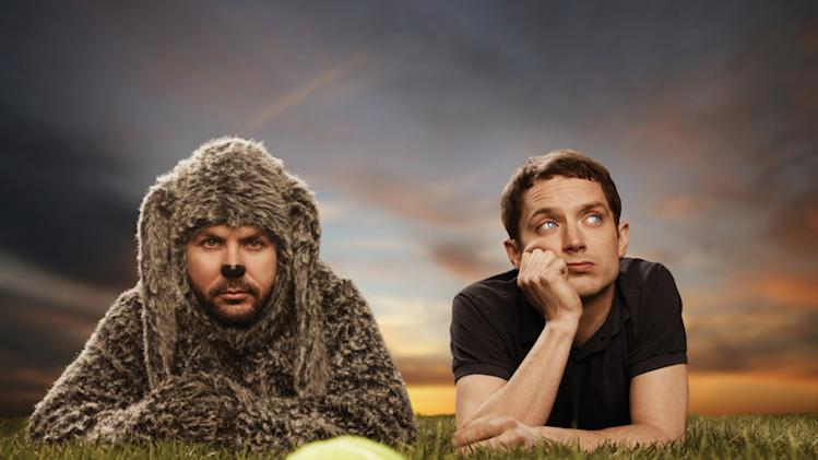 "Jason Gann as Wilfred and Elijah Wood as Ryan in ""Wilfred."""