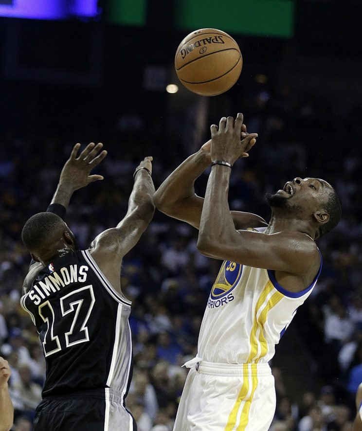 Kevin Durant and the Warriors are going to need some time. (Associated Press)