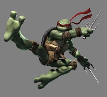 Raphael (voiced by Nolan North ) in Warner Bros. Pictures' TMNT