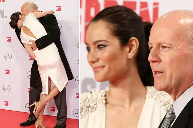 "Filmreif: Bruce Willis und Emma Heming bei der ""Stirb langsam""-Premiere (Bilder: Getty Images)"