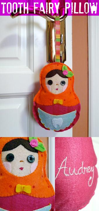 DIY Matryoshka Tooth Fairy Pillow