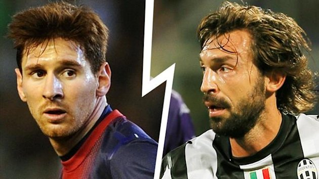 FOOTBALL 2012 Equipe-type (Messi Vs Pirlo)