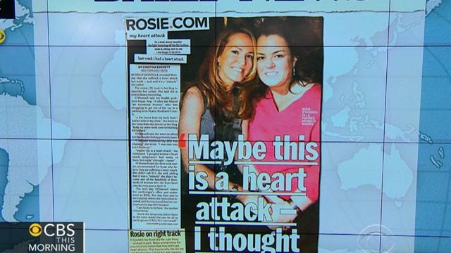 Headlines: Rosie O'Donnell has heart attack