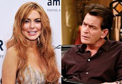 Lindsay Lohan, Charlie Sheen | Photo Credits: Stephen Lovekin/Getty Images; Trae Patton/FX