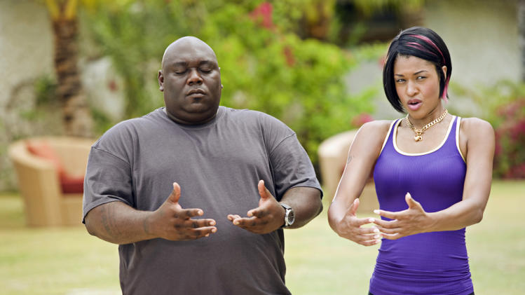 Faizon Love Kali Hawk Couples Retreat Production Stills Universal 2009