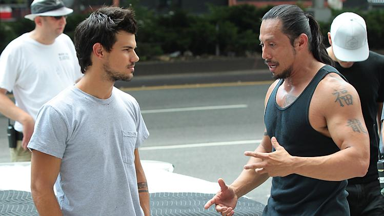 Taylor Lautner Films 'Tracers' in NYC