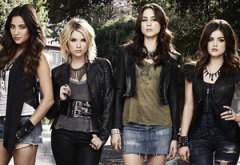 Shay Mitchell, Ashley Benson, Troian Bellisario, Lucy Hale | Photo Credits: Andrew Eccles/ABC Family