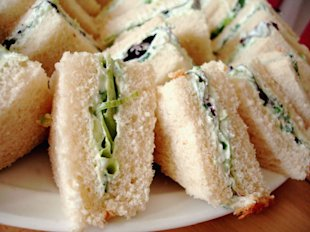 Benedictine Cheese Tea Sandwiches