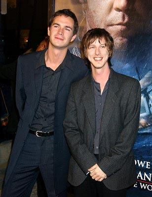 James D'Arcy and Lee Ingleby at the LA premiere of 20th Century Fox's Master and Commander: The Far Side of the World