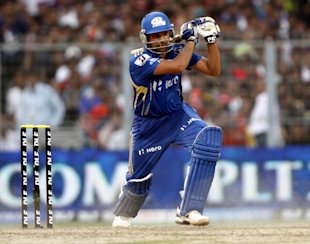 KOLKATA, INDIA ? MAY 12: Mumbai Indian player Rohit Sharma in action during the match between Kolkata Knight Rides and Mumbai Indians at Eden Gardens on May 12, 2012 in Kolkata, India. Mumbai Indians won the match and chose to bat. (Photo by Subhendu Ghosh /Hindustan Times )