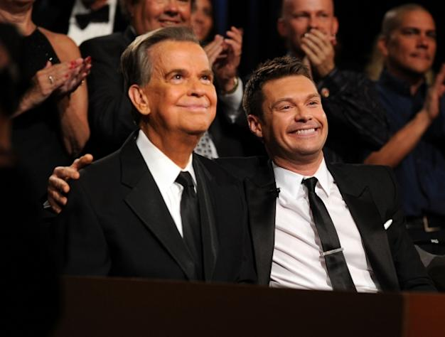 Dick Clark and Ryan Seacrest attend the 37th Annual Daytime Entertainment Emmy Awards held at the Las Vegas Hilton in Las Vegas on June 27, 2010 -- Getty Images