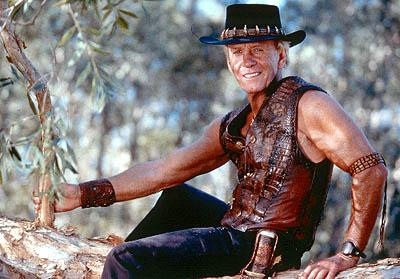 Paul Hogan as Mick Dundee in Paramount's Crocodile Dundee In Los Angeles