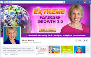 12 Ways To Visually Inspire Fans With Facebook Cover Images image mari smith cover
