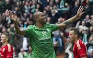 Werder Bremen's Brazilian centreback Naldo, seen here in April 2012, is due to sign for rival Bundesliga side Vfl Wolfsburg
