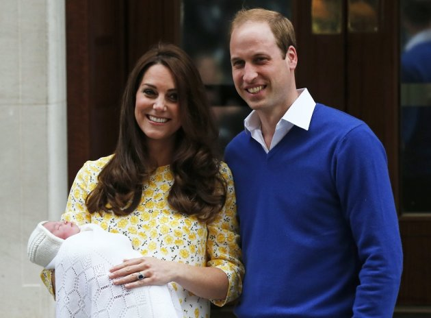 Kate Middleton and Prince William Charlotte Elizabeth Diana to the world.