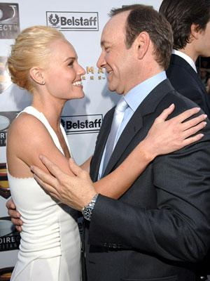 Premiere: Kate Bosworth and Kevin Spacey at the Westwood premiere of Warner Bros. Pictures' Superman Returns - 6/21/2006