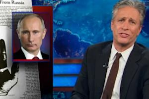 Jon Stewart Slams Vladimir Putin's NYT Op-Ed: 'The Larry David of Diplomacy' (Video)