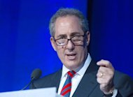 US Trade Representative Michael Froman speaks at a conference in Washington on June 25, 2013. The United States on Saturday took the rare step of vetoing a quasi-judicial trade panel's decision to ban the sale of some Apple products in a blow to rival Samsung