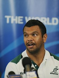 Kurtley Beale, seen here in October 2011, injured his shoulder playing for the Melbourne Rebels in their 66-24 loss to the Hurricanes in Wellington on Saturday and scans showed he would also play no part in next month's Tests