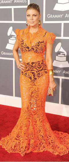 Is Fergie's Orange Lace Grammys Dress Too Bold?