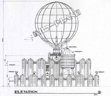 Design for the Daily Planet globe Warner Bros. Pictures' Superman Returns